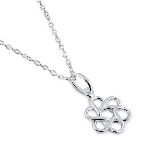 Sterling Silver Atom Necklace