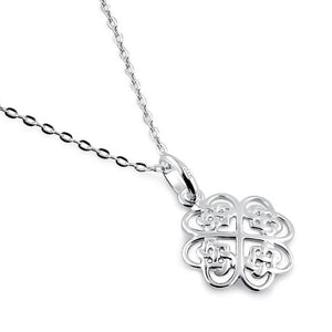 Sterling Silver Celtic Flower Necklace