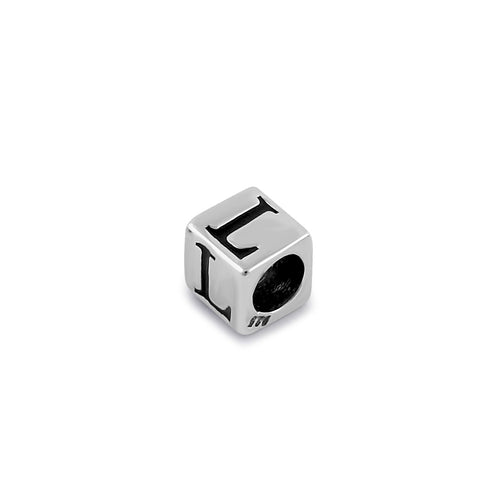 Sterling Silver 4.5mm Letter L Cube Pendant