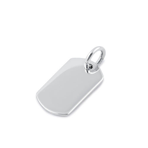Sterling Silver Dog Tag Pendant