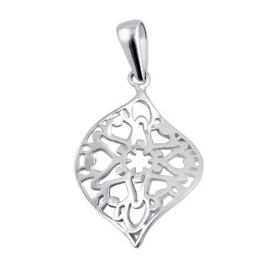 Sterling Silver Leaf Star Pendant