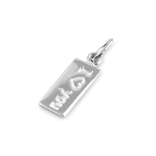 Sterling Silver I Love You Pendant