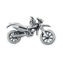 Load image into Gallery viewer, Sterling Silver Motorcycle Pendant