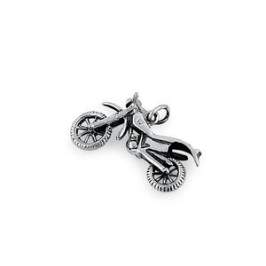 Sterling Silver Motorcycle Pendant