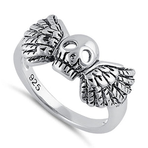 Sterling Silver Winged Skull Ring