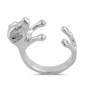 Sterling Silver Labrador Dog Ring