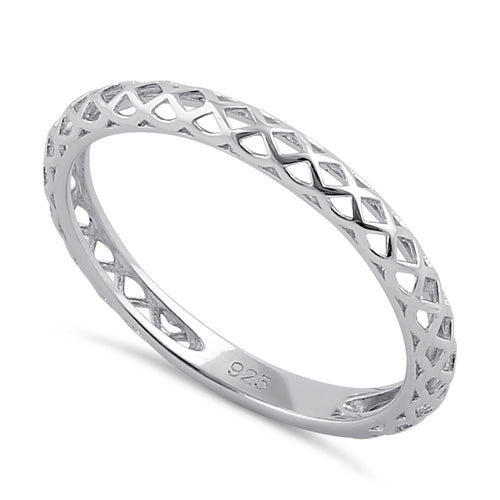 Sterling Silver Basket Band Ring
