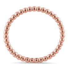 Load image into Gallery viewer, Sterling Silver Rose Gold Plated 1.5mm Stackable Bead Ring