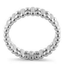 Load image into Gallery viewer, Sterling Silver High Polish Bead & Bar Stackable Ring