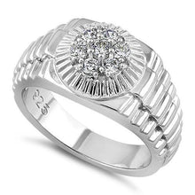Load image into Gallery viewer, Sterling Silver Men's Premium CZ Ring