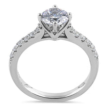 Load image into Gallery viewer, Sterling Silver Simple Classy Round Cut Clear CZ Engagement Ring