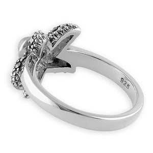 Sterling Silver Fresh Water Pearl Marcasite Starfish Ring