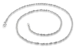Sterling Silver Singapore Chain 2.2MM