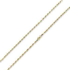 "14K Gold Plated Sterling Silver 24"" Singapore Twist Chain 2.0MM"