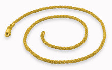 Load image into Gallery viewer, 14K Gold Plated Sterling Silver Spiga Chain 2.5MM
