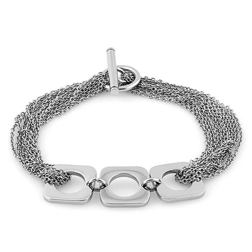 Stainless Steel Squircle Link Chain Bracelet