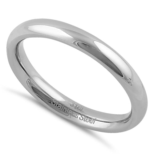 Stainless Steel Men's 3mm Polished Wedding Band