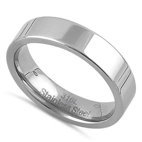 Stainless Steel Men's 5mm Wedding Band
