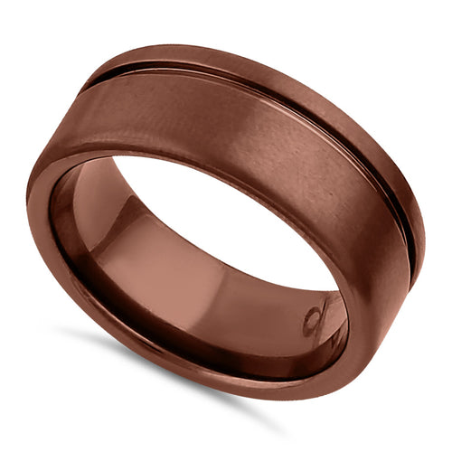 Stainless Steel Bronze Plated Wedding Band