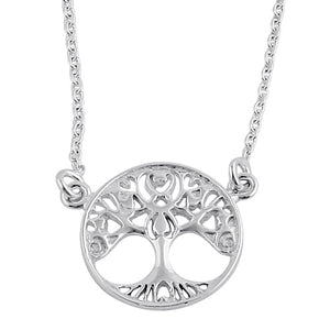 Sterling Silver Tree of Life Female Necklace