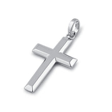 Load image into Gallery viewer, Solid 14K White Gold Bold Cross Pendant