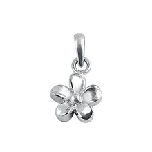 Load image into Gallery viewer, Sterling Silver Small Plumeria Pendant