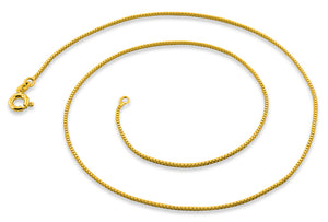 14K Gold Plated Sterling Silver Box Chain 0.7MM