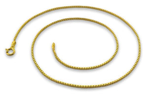 14K Gold Plated Sterling Silver Box Chain 1.1MM