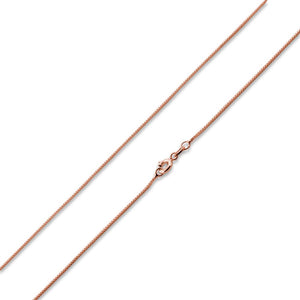 "14K Rose Gold Plated Sterling Silver 16"" Box Chain 0.7MM"