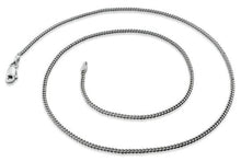 Load image into Gallery viewer, Rhodium Sterling Silver Curb Chain 1.7 MM