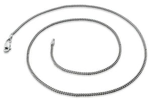Rhodium Sterling Silver Curb Chain 1.7 MM