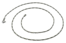 Load image into Gallery viewer, Rhodium Sterling Silver Figaro Chain 1.4 MM