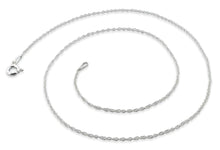 "Load image into Gallery viewer, Sterling Silver 7"" Rope Chain Bracelet 1.1 MM"