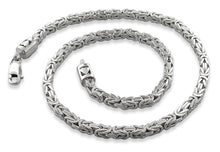 Load image into Gallery viewer, Sterling Silver 8.5 Square Byzantine Chain Bracelet - 4.0MM