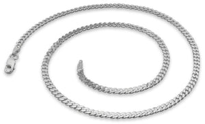 "Sterling Silver 8"" Curb Chain Bracelet  3.0MM"