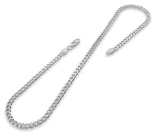 "Load image into Gallery viewer, Sterling Silver 8"" Curb Chain Bracelet 4.6mm"
