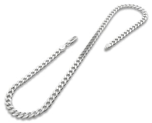 "Sterling Silver 8"" Curb Chain Bracelet 5.6mm"