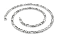 "Load image into Gallery viewer, Sterling Silver 8"" Figaro Chain Bracelet 4.8 mm"