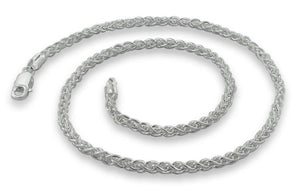 "Sterling Silver 8"" Spiga Chain Bracelet 3.1 mm"