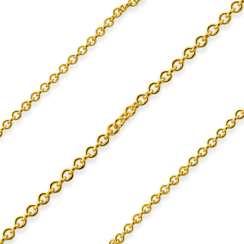 Gold Filled Chain Cable 1.3mm (sold by the foot)