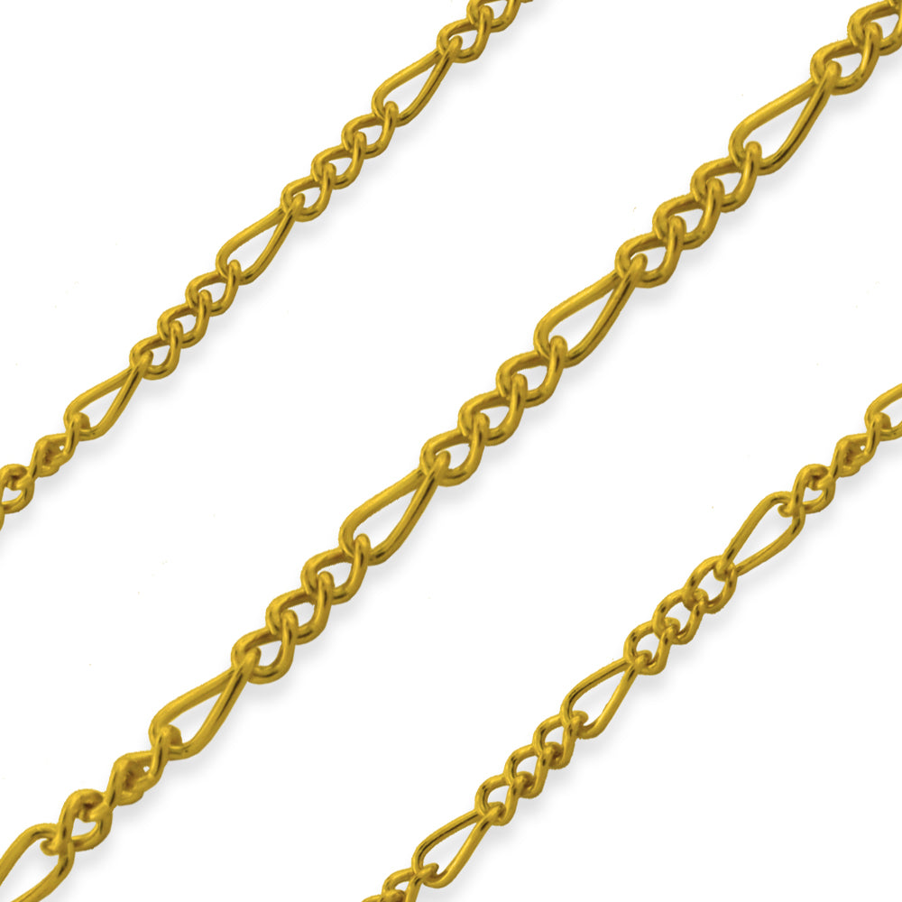 Gold Filled Figaro Chain 1.4mm (sold by the foot)