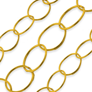 Gold Filled Medium Cable Chain 10.5mm (sold by the foot)