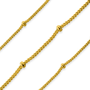 Gold Filled Sattelite Chain 1.9mm Ball (sold by the foot)