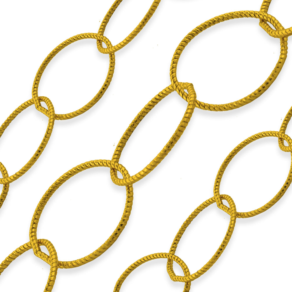Gold Filled Twisted Round Cable Chain 10mm (sold by the foot)