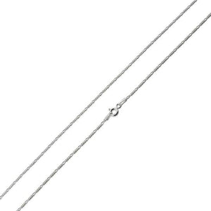 Sterling Silver Figaro Chain Necklace 1.4mm