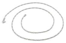 "Load image into Gallery viewer, Sterling Silver 20"" Figaro Chain Necklace 1.4mm"