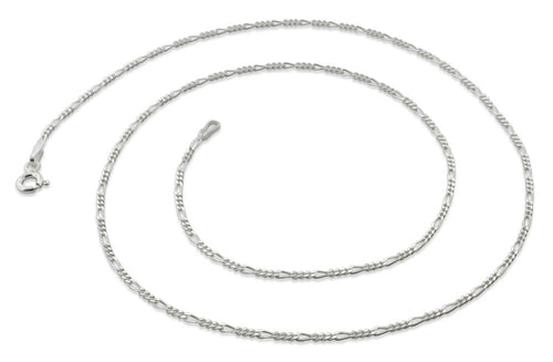 "Sterling Silver 22"" Figaro Chain Necklace 1.4mm"