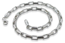 "Load image into Gallery viewer, Sterling Silver 7"" Long Round Box Chain Bracelet - 5.7mm"