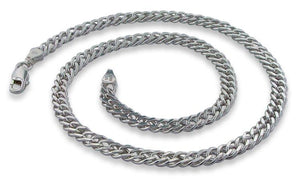 "Sterling Silver 30"" Rombo Chain Necklace - 6.5MM"