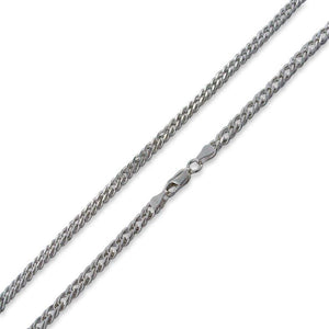 "Sterling Silver 7"" Rombo Chain Bracelet - 6.5mm"